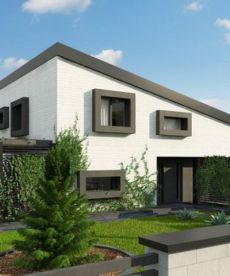 Фото проекта дома Z391 вид с улицы