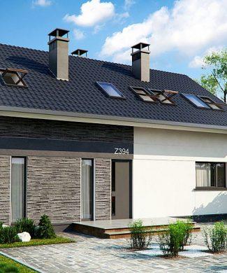 Фото проекта дома Z394 вид с улицы