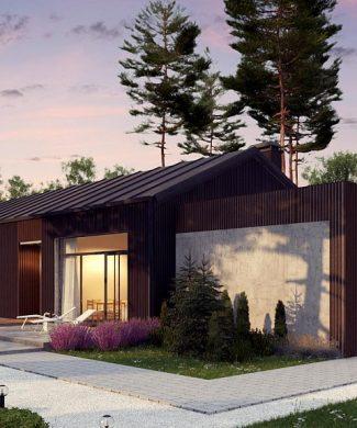 Фото проекта дома Z395 вид с улицы