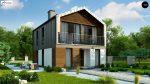 Фото проекта дома Z396 вид с улицы