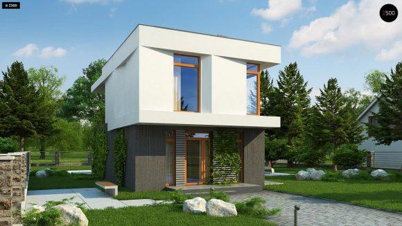Фото проекта дома Z397 вид с улицы