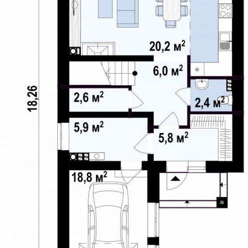 План первого этажа проекта Z398