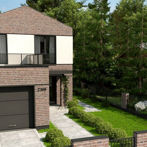 Фото проекта дома Z398 вид с улицы
