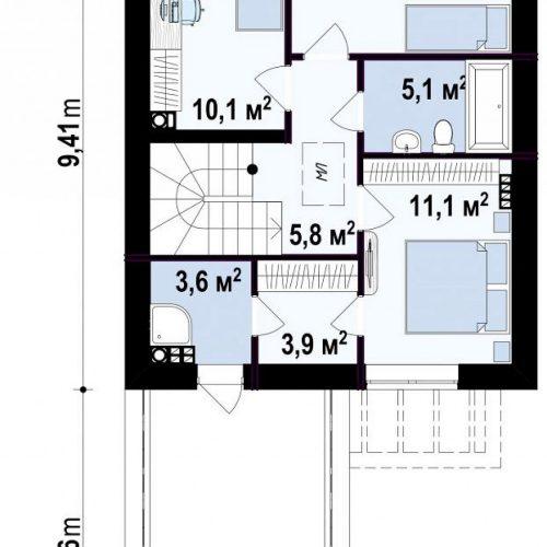 План второго этажа проекта Z398 v1