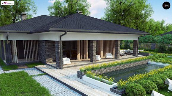 Фото проекта дома Z400 вид с улицы