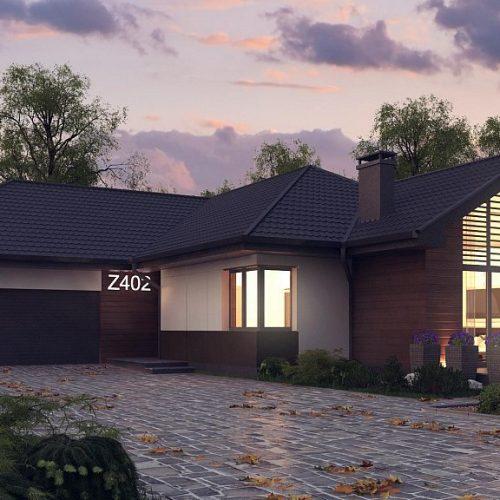 Фото проекта дома Z402 вид с улицы