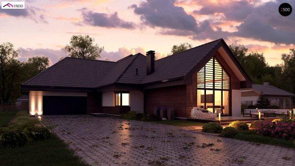 Фото проекта дома Z402 B+ вид с улицы