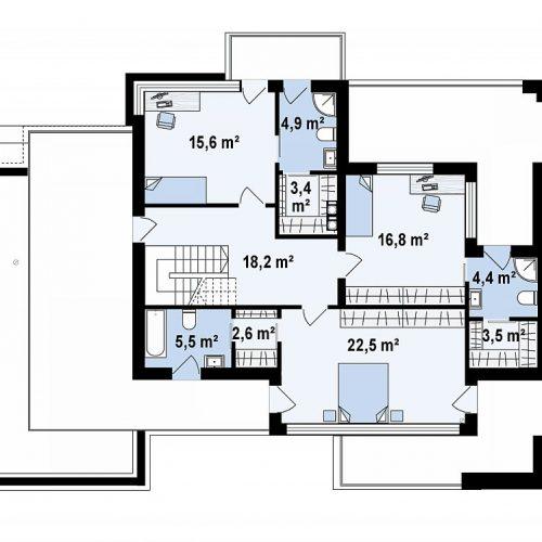 План второго этажа проекта Z404
