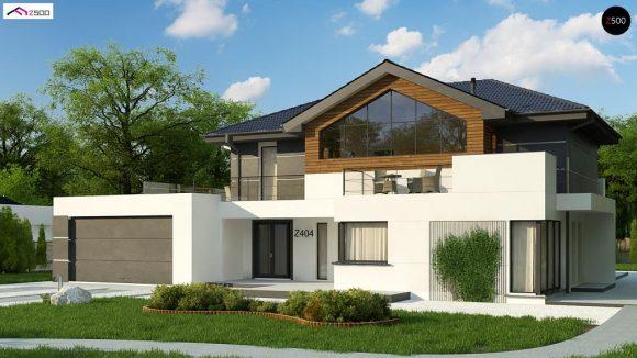 Фото проекта дома Z404 вид с улицы