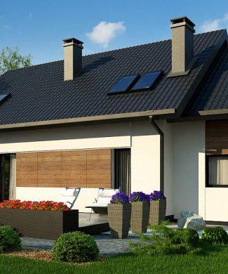 Фото проекта дома Z405 вид с улицы