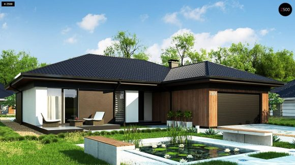 Фото проекта дома Z406 вид с улицы