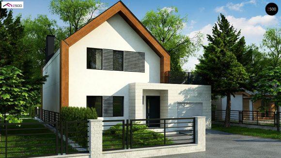 Фото проекта дома Z424 вид с улицы