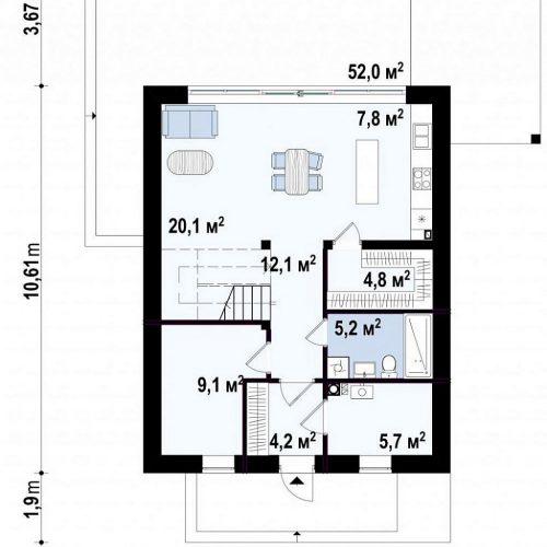 План первого этажа проекта Z440