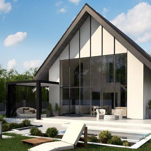 Фото проекта дома Z440 вид с улицы