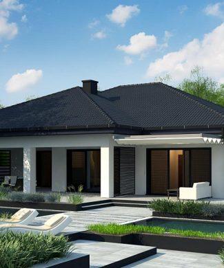 Фото проекта дома Z441 вид с улицы