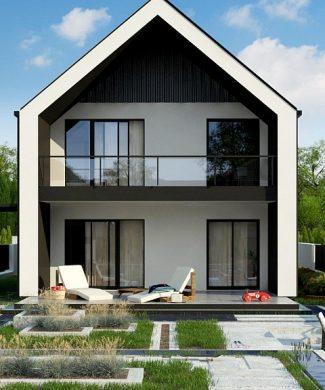 Фото проекта дома Z442 вид с улицы