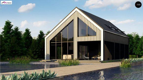 Фото проекта дома Z445 D вид с улицы