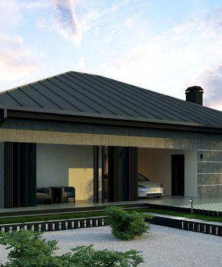 Фото проекта дома Z449 вид с улицы