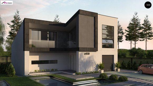 Фото проекта дома Z450 вид с улицы