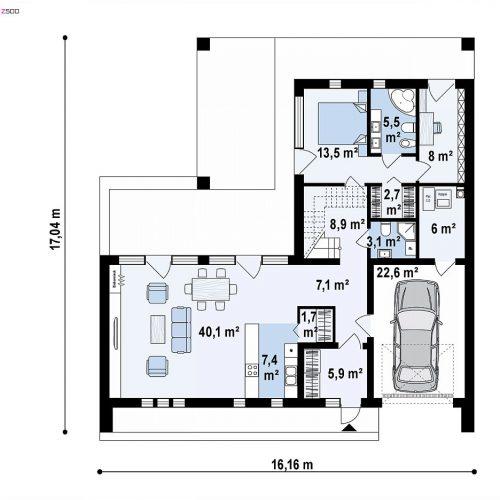 План первого этажа проекта Z453