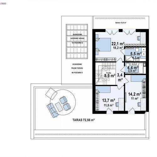План второго этажа проекта Z453