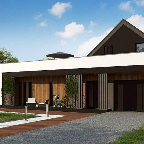 Фото проекта дома Z453 вид с улицы