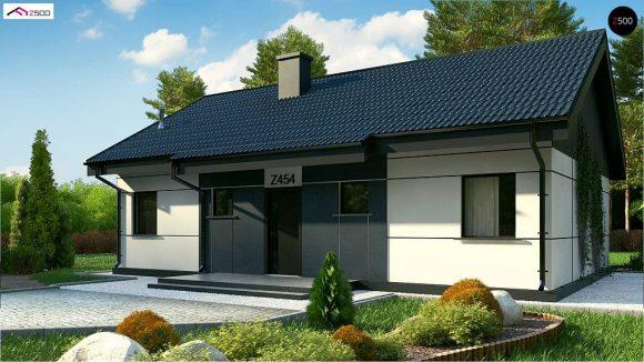 Фото проекта дома Z454 Real Green вид с улицы