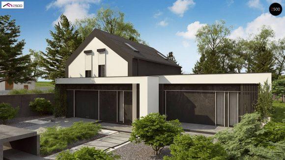 Фото проекта дома Z457 вид с улицы