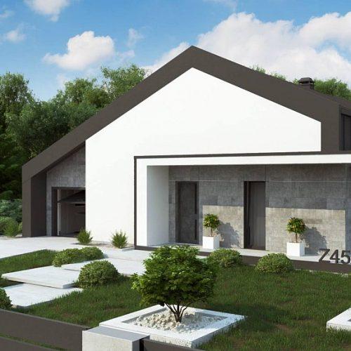 Фото проекта дома Z458 вид с улицы