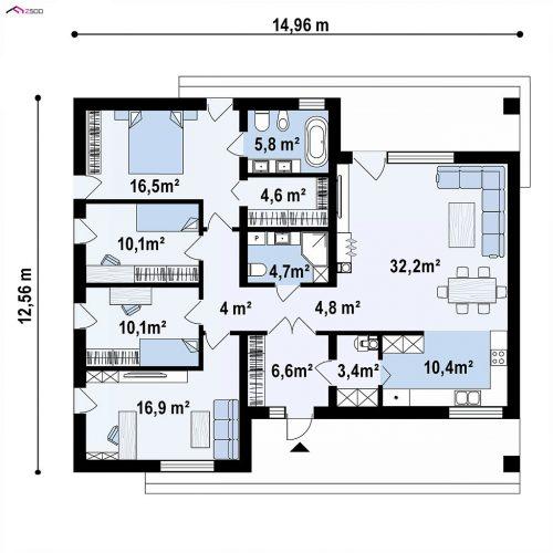 План первого этажа проекта Z459