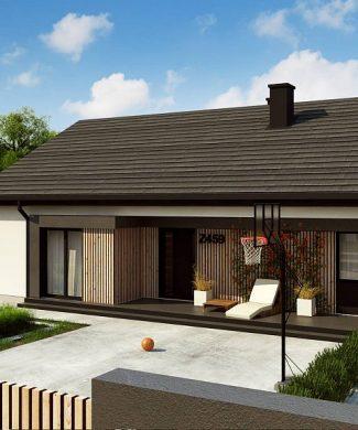 Фото проекта дома Z459 вид с улицы