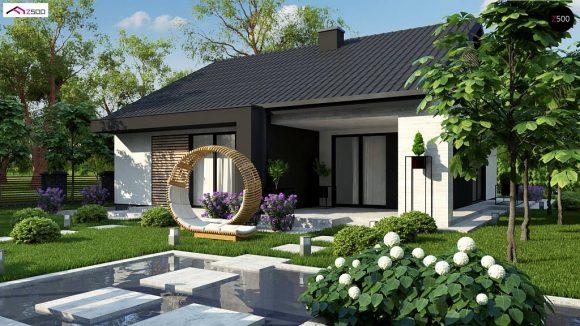 Фото проекта дома Z460 вид с улицы