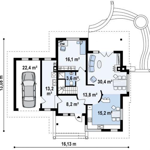 План первого этажа проекта Z48
