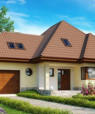 Фото проекта дома Z48 вид с улицы