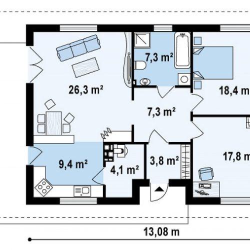 План первого этажа проекта Z55 dk