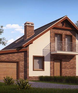 Фото проекта дома Z63 L GL вид с улицы