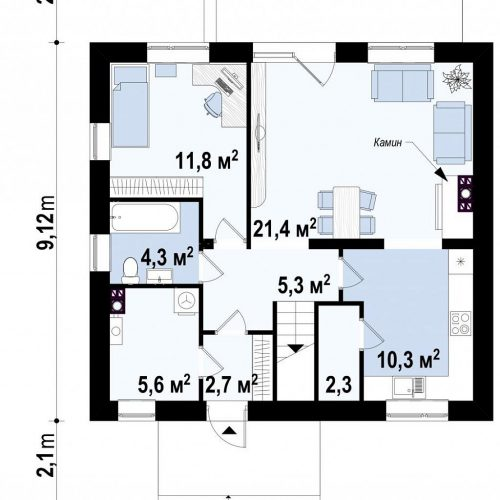 План первого этажа проекта Z65 v2