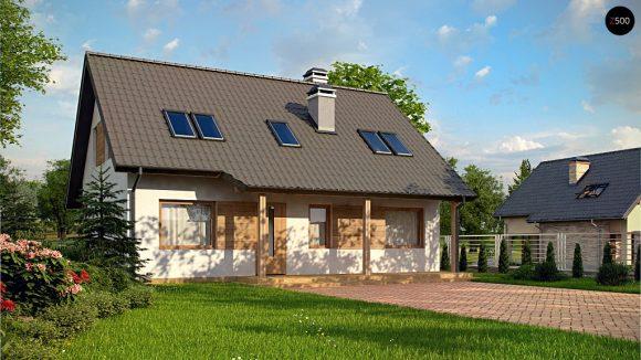 Фото проекта дома Z66 D zp вид с улицы