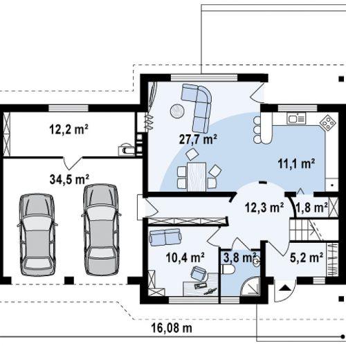 План первого этажа проекта Z68 GL2