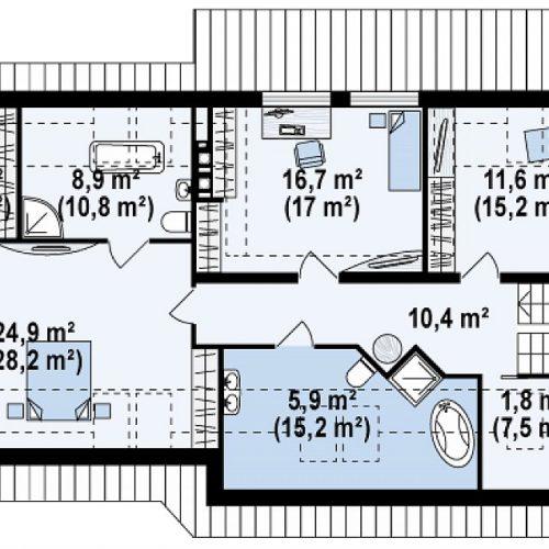 План второго этажа проекта Z68 GL2