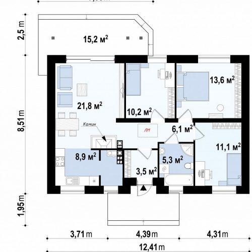 План первого этажа проекта Z7 35 S