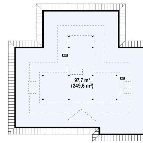 План второго этажа проекта Z77