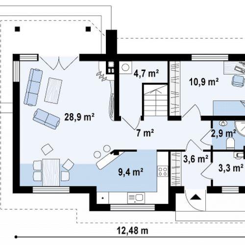 План первого этажа проекта Z79