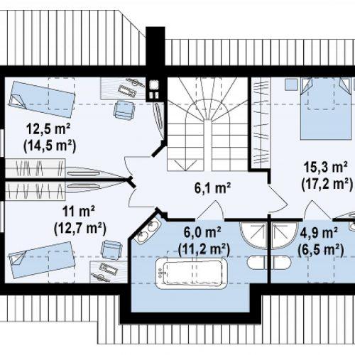 План второго этажа проекта Z79