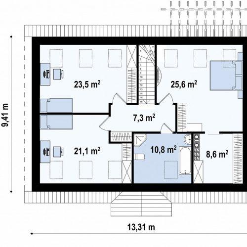 План второго этажа проекта Z8 B 40