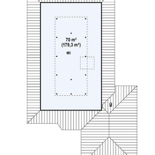 План второго этажа проекта Z82
