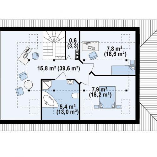 План второго этажа проекта Z85