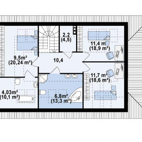 План второго этажа проекта Z85 C