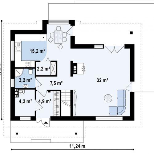 План первого этажа проекта Z89