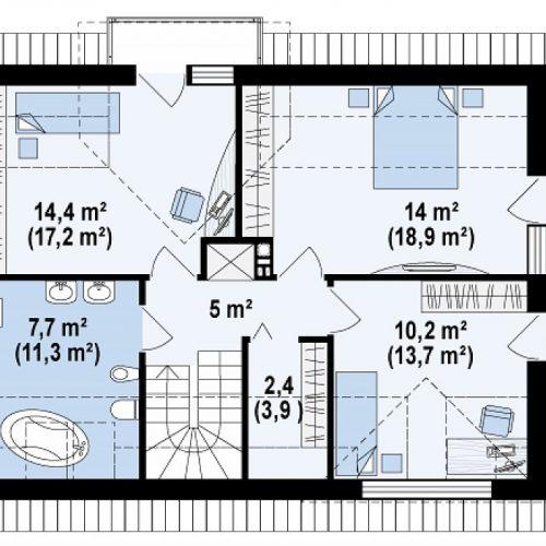 План второго этажа проекта Z89